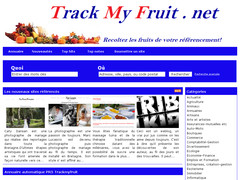 Annuaire a validation auto Trackmyfruit.net